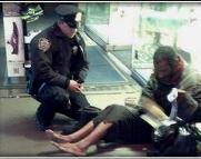 N.Y. police officer Lawrence DePrimo gives homeless man a pair of boots