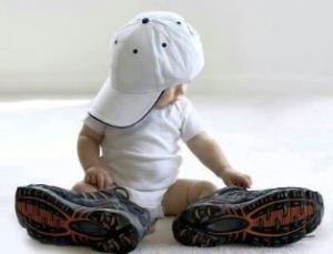 baby in daddys shoes website pic
