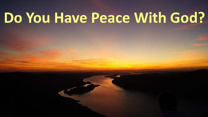 do-you-have-peace-with-god